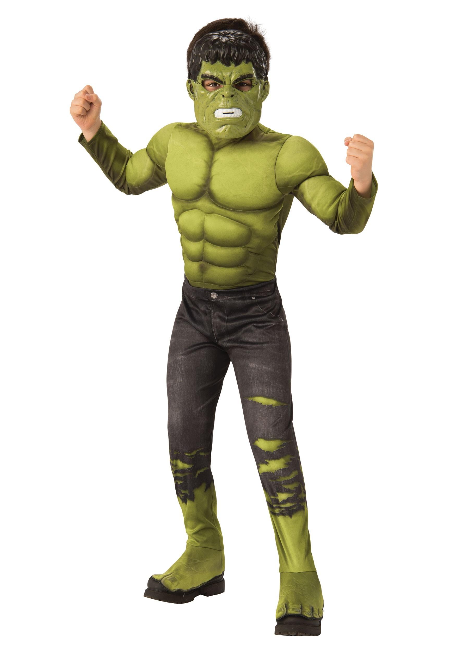 Deluxe Marvel Avengers Endgame Boys Incredible Hulk Costume