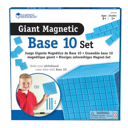 Learning Resources® Giant Magnetic Base Ten Set | Michaels®