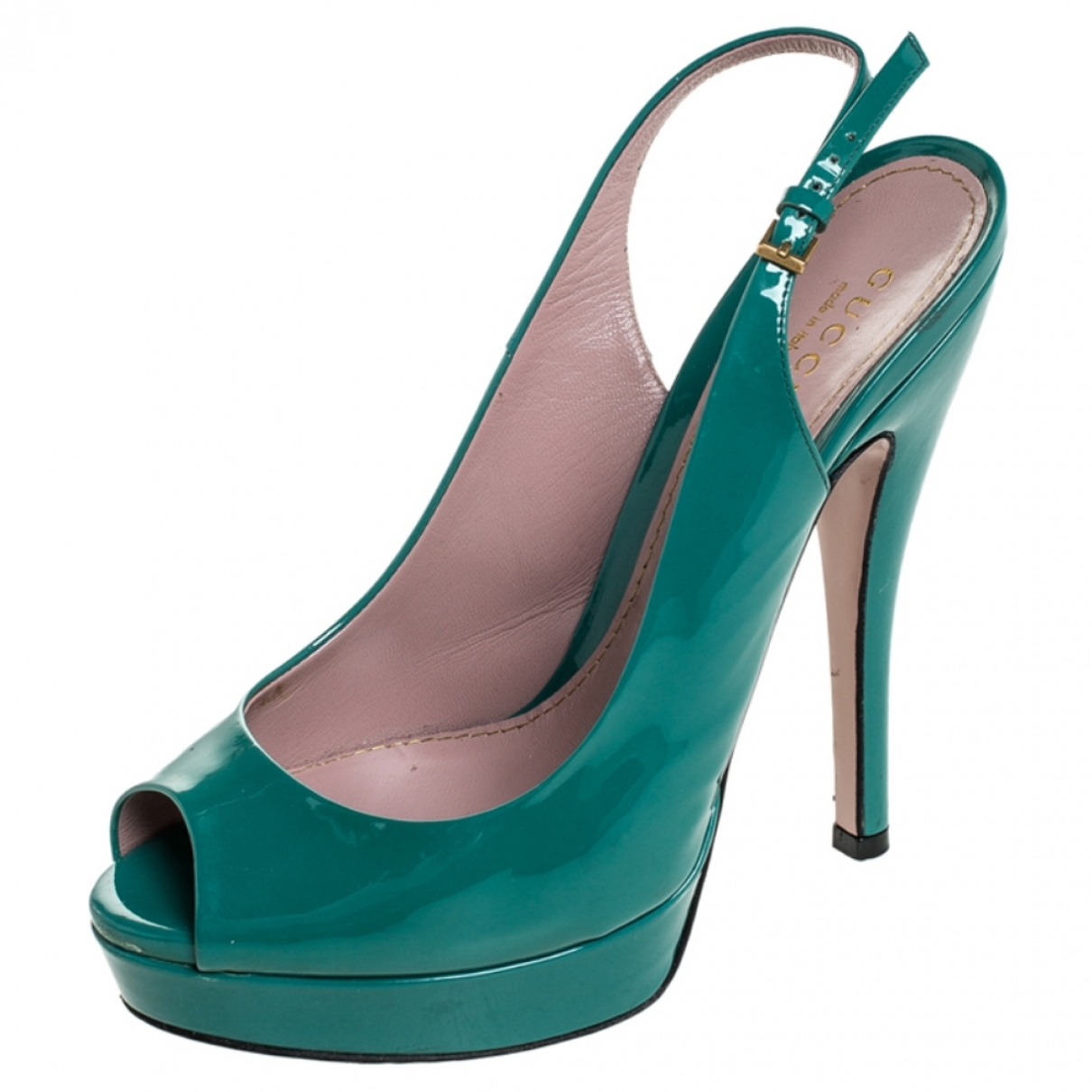 Gucci \N Blue Patent leather Heels for Women 5.5 US
