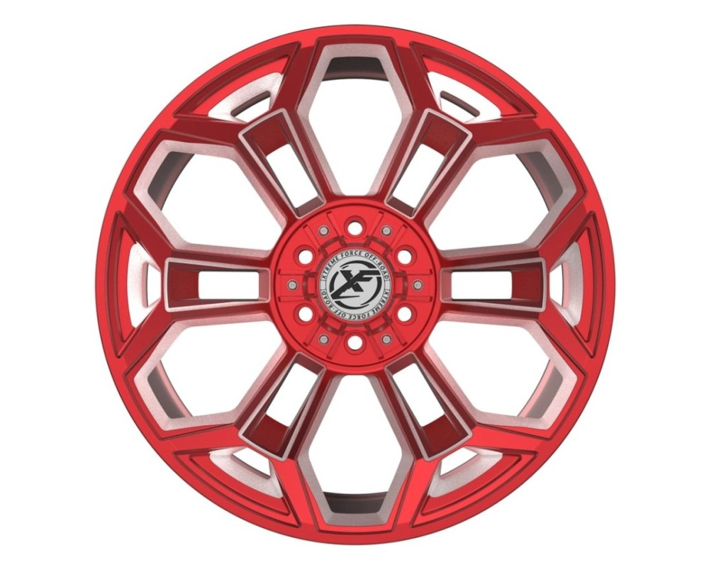 XF Off-Road XFX-308 Wheel 24x14 8x170|8x180 -76mm Red Milled