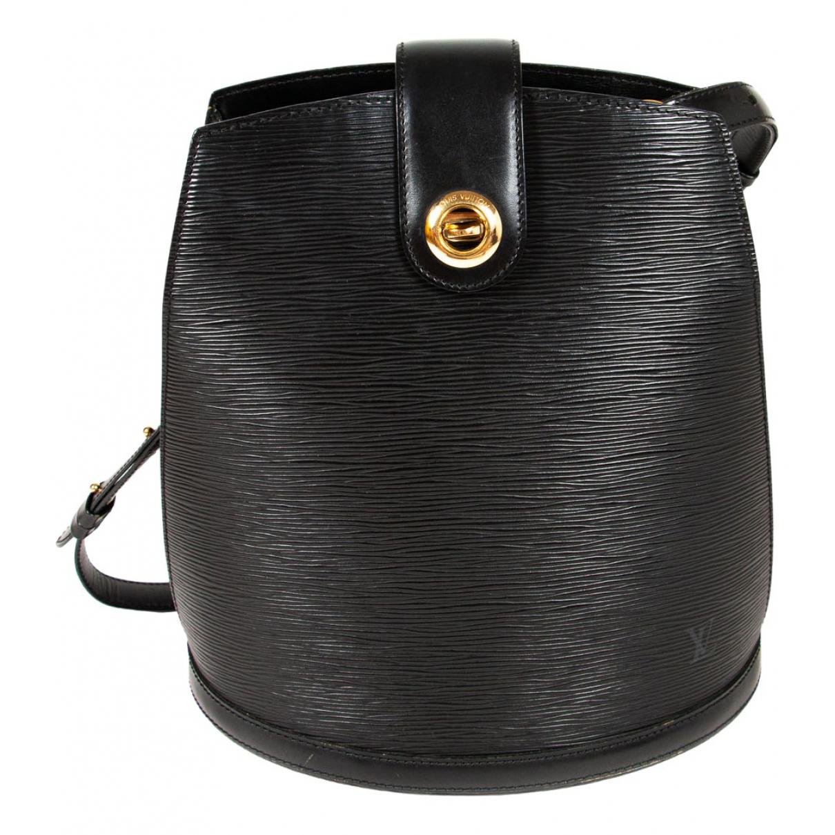 Louis Vuitton - Sac a main Cluny Vintage pour femme en cuir - noir