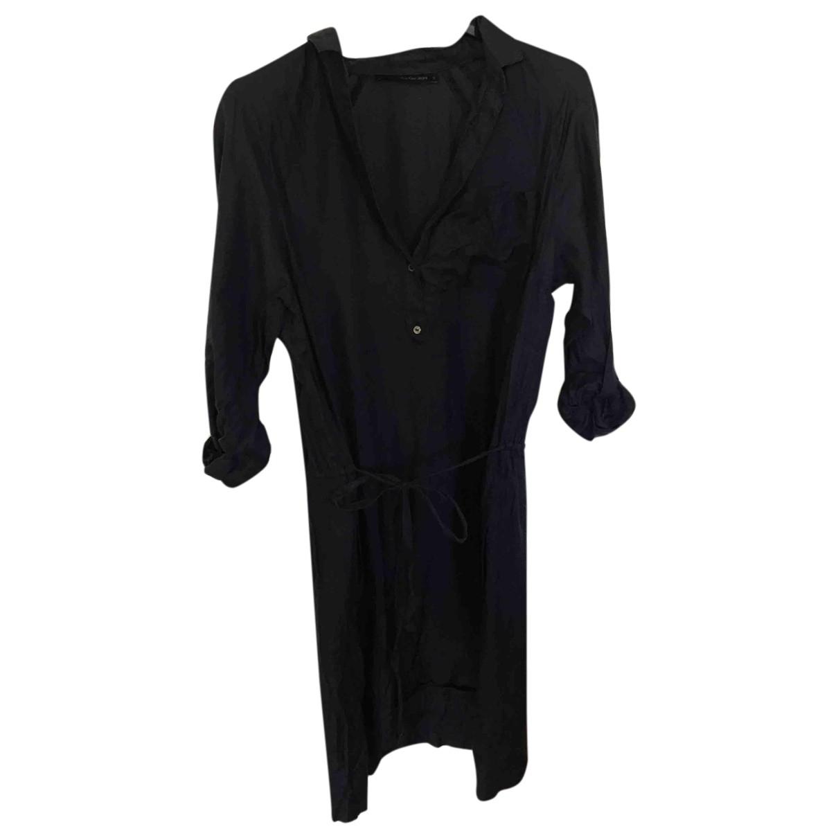 Calvin Klein - Robe   pour femme en soie - bleu