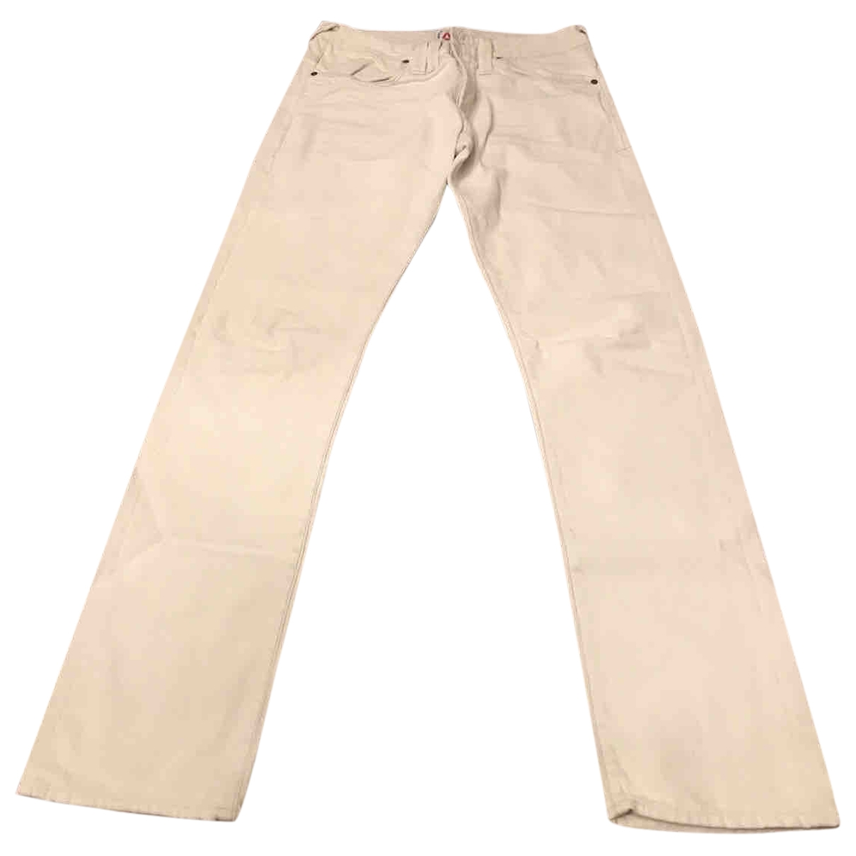 Cycle \N White Cotton Jeans for Men 33 US
