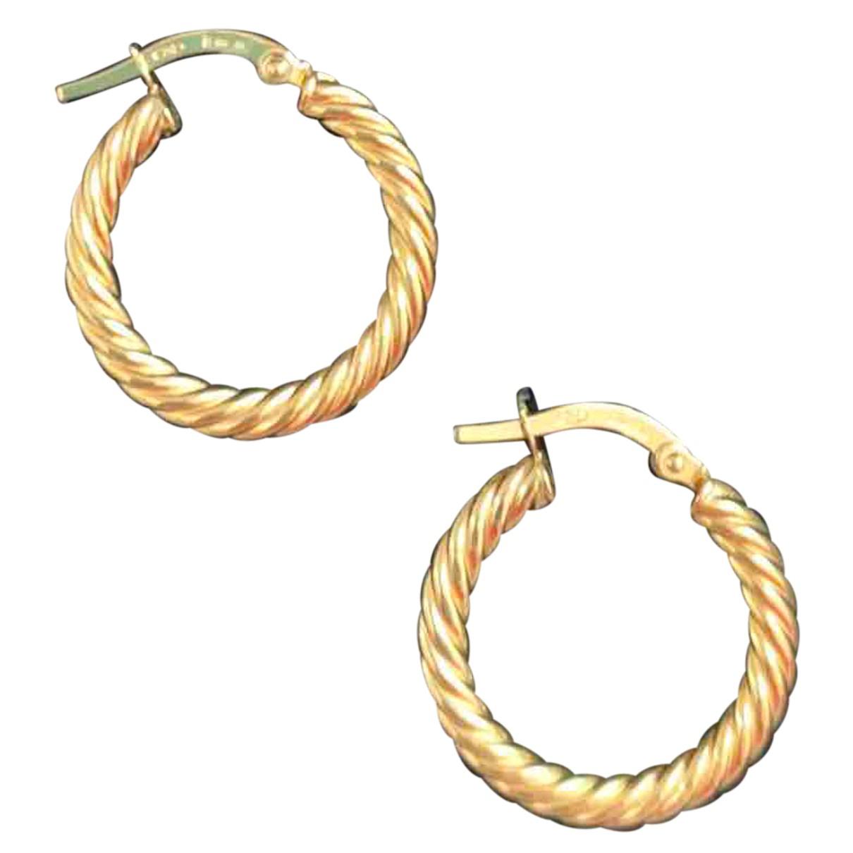 - Boucles doreilles Creoles pour femme en or jaune