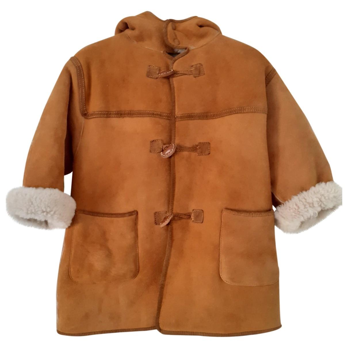 - Blousons.Manteaux   pour enfant en suede - camel