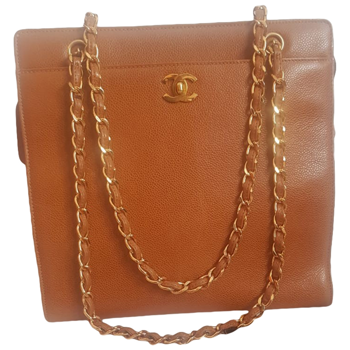 Chanel \N Gold Leather handbag for Women \N