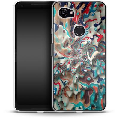 Google Pixel 2 XL Silikon Handyhuelle - Weird Surface von Danny Ivan