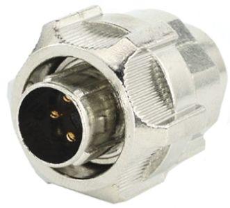 Toughcon Connector, 4 contacts Cable Mount Plug, Crimp IP65