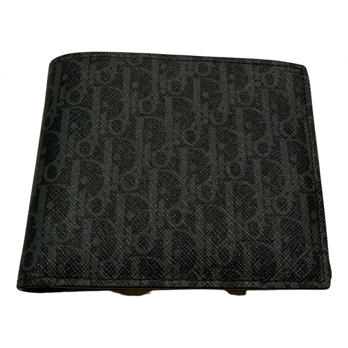 Dior - Petite maroquinerie   pour homme en toile - noir