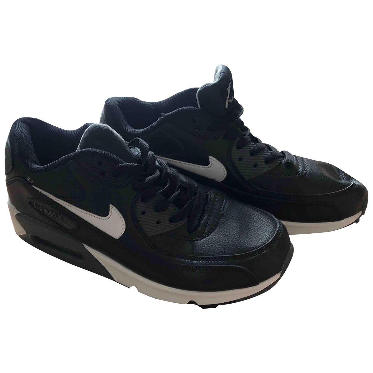Nike - Baskets Air Max 90 pour homme en cuir - noir