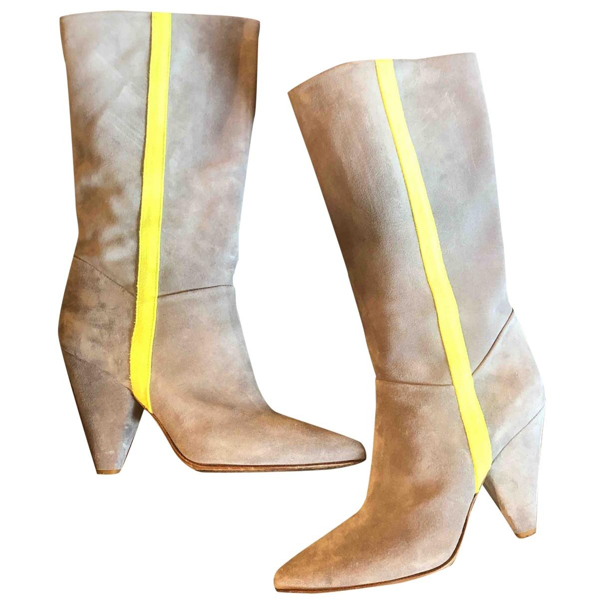Buttero \N Stiefel in  Grau Leder