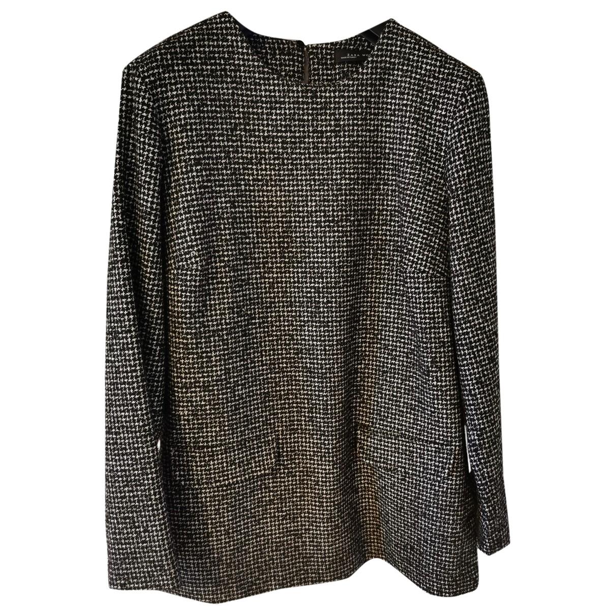 Zara - Top   pour femme en laine - noir