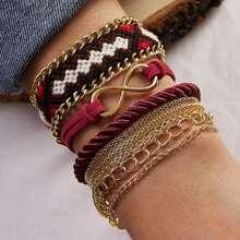 3pcs Infinity & Braided String Bracelet