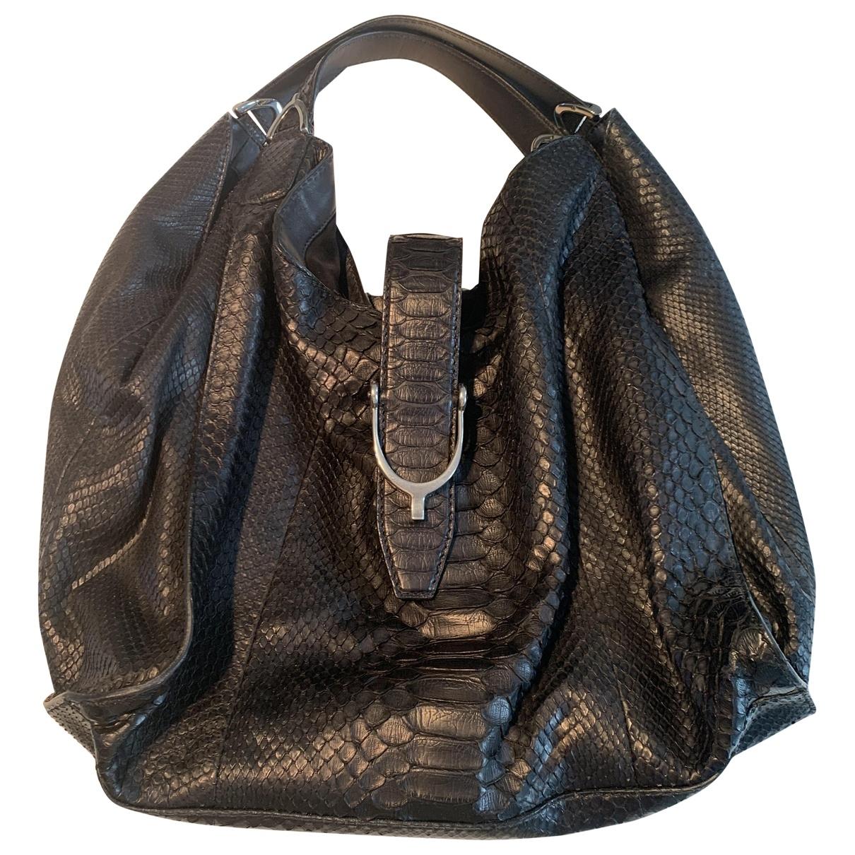 Gucci \N Black Python handbag for Women \N