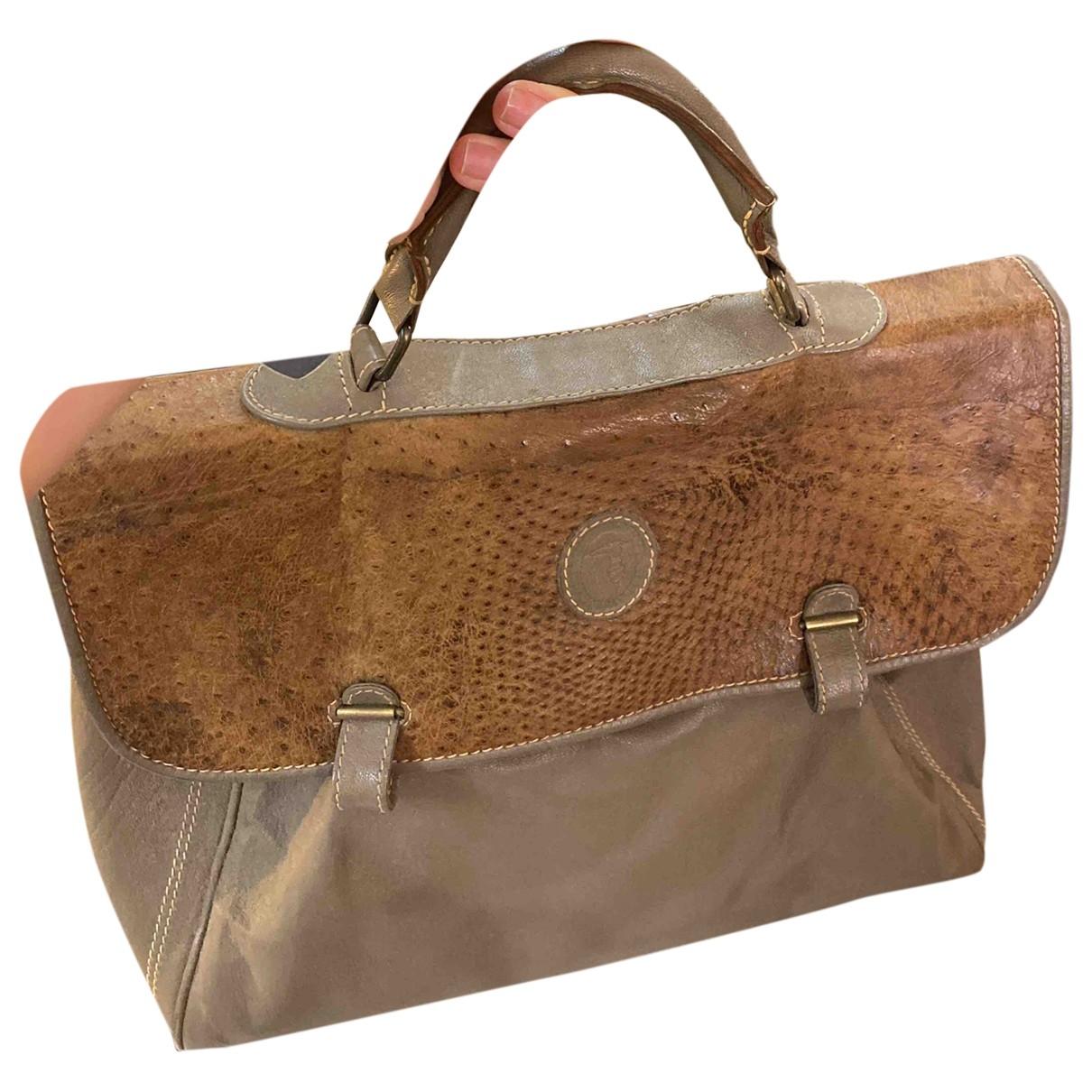 Trussardi \N Handtasche in  Grau Leder