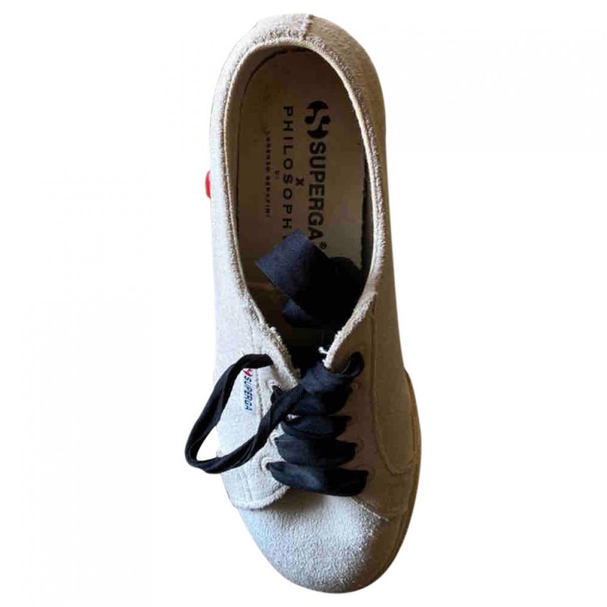 Philosophy Di Lorenzo Serafini \N Sneakers in  Ecru Veloursleder