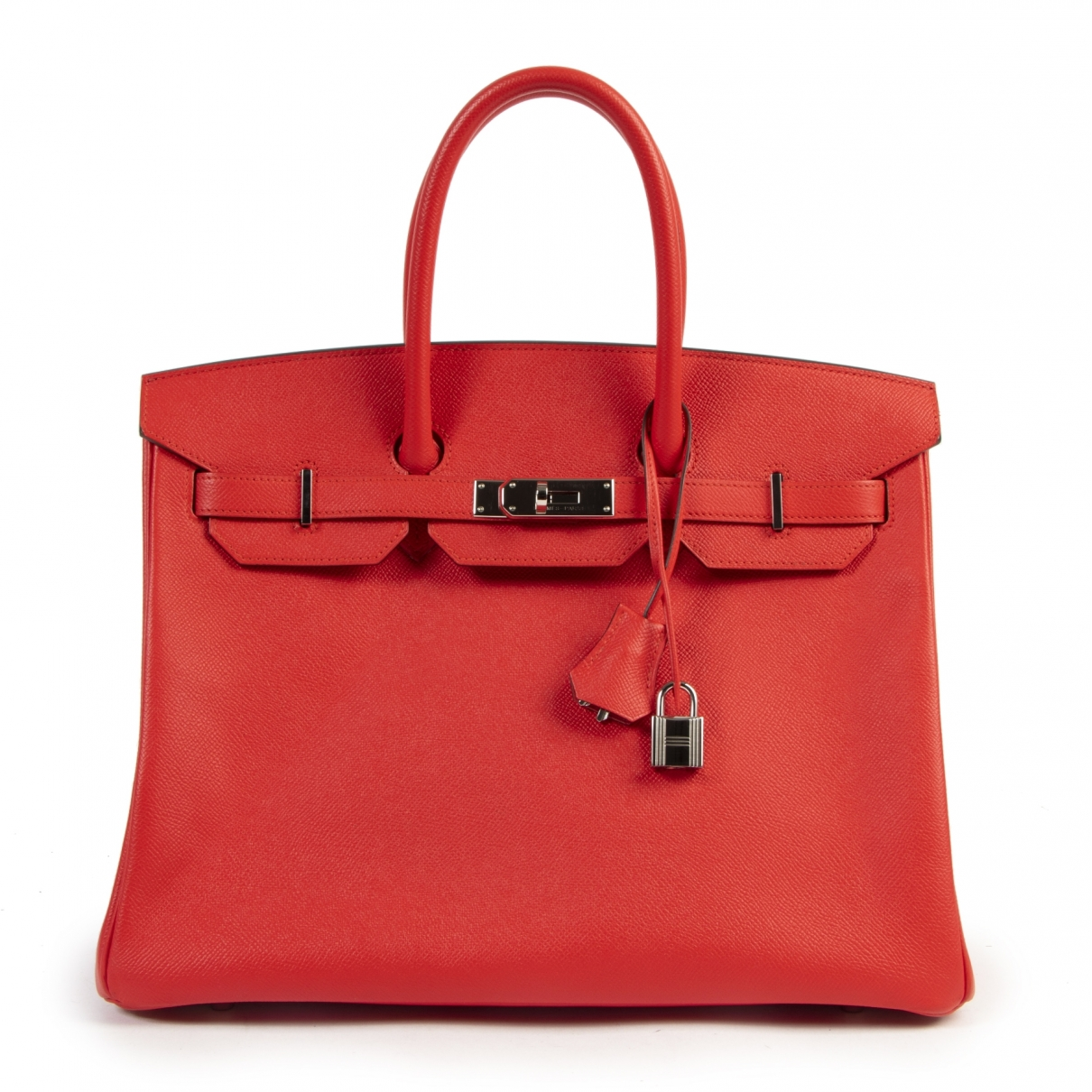 Hermes Birkin 35 Handtasche in  Rot Leder
