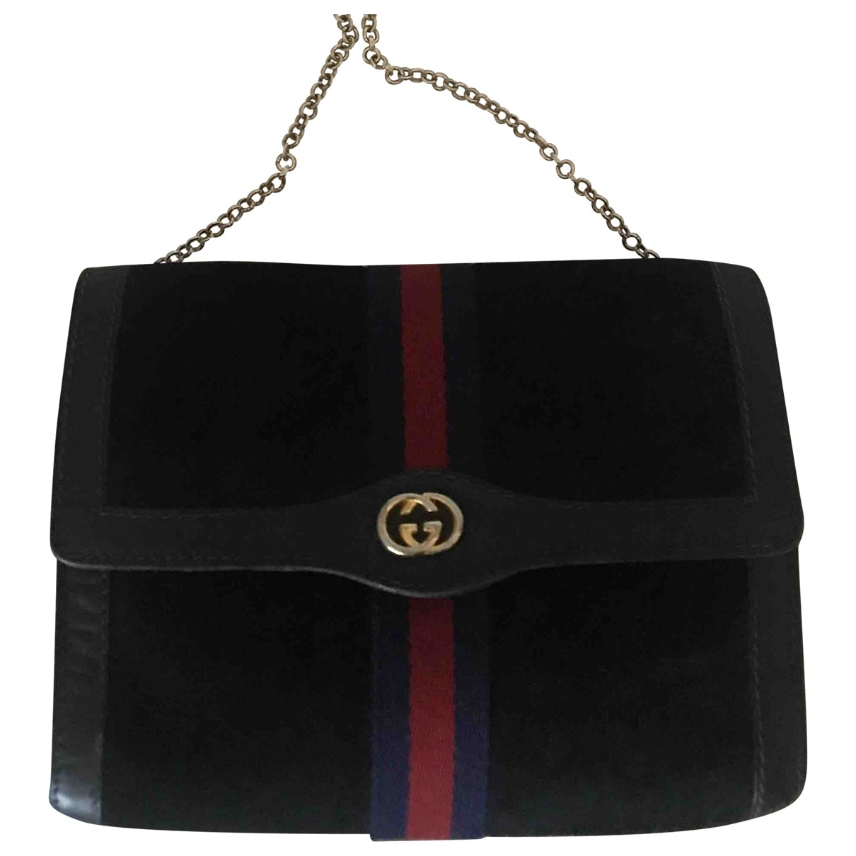 Gucci Ophidia Blue Suede Clutch bag for Women \N