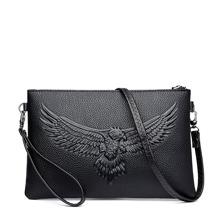Men Eagle Embossed Clutch Bag