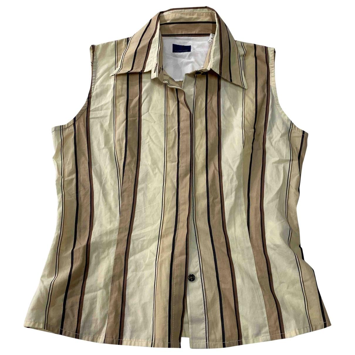 Moncler - Top   pour femme en coton - multicolore