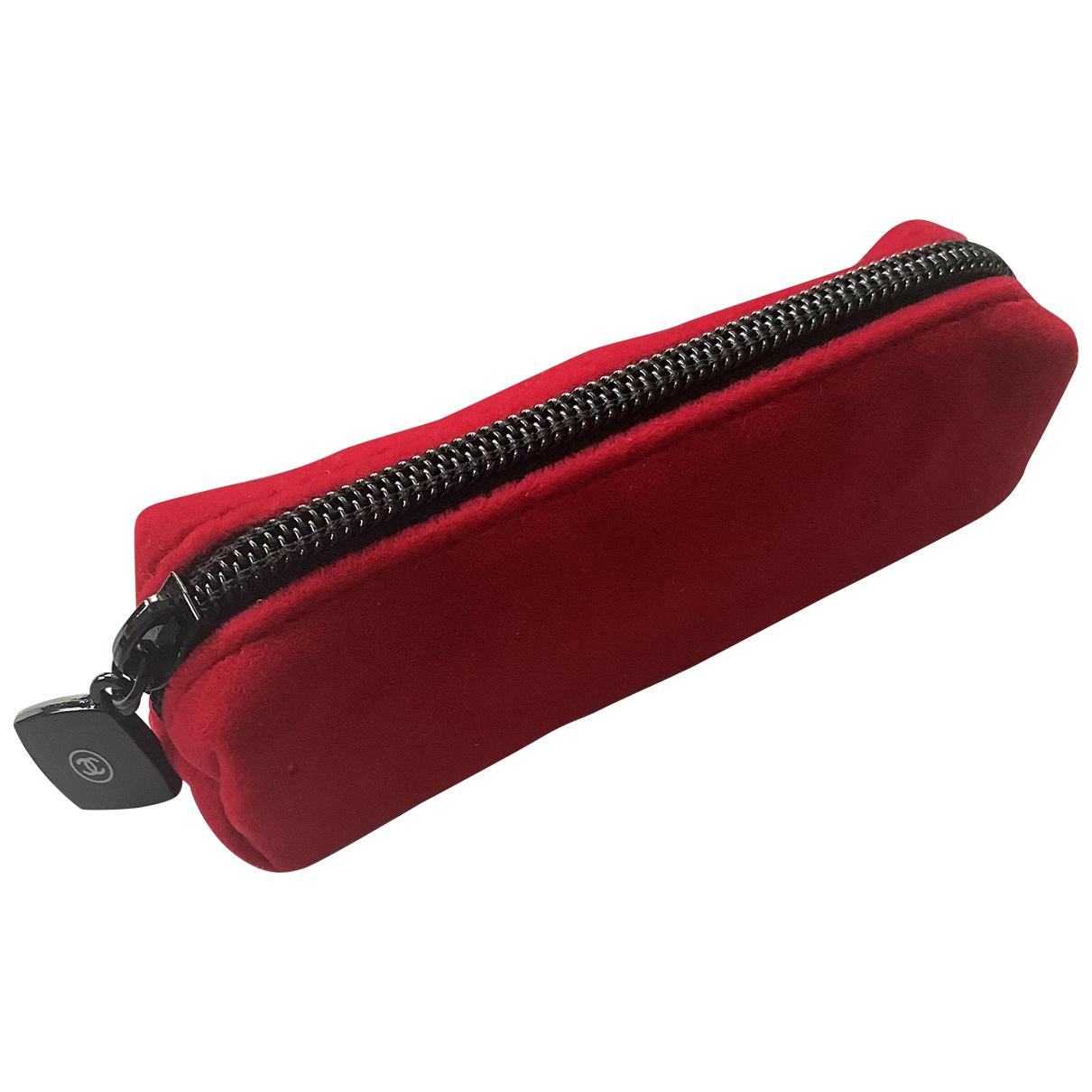 Chanel - Sac de voyage   pour femme - rouge