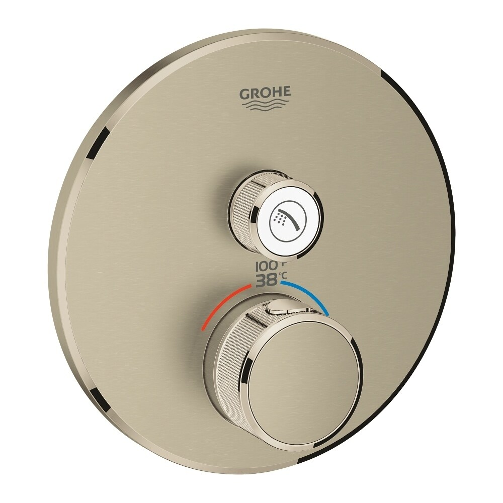 Grohe Grohtherm SmartControl Single Function Thermostatic Trim with Control Module Brushed Nickel