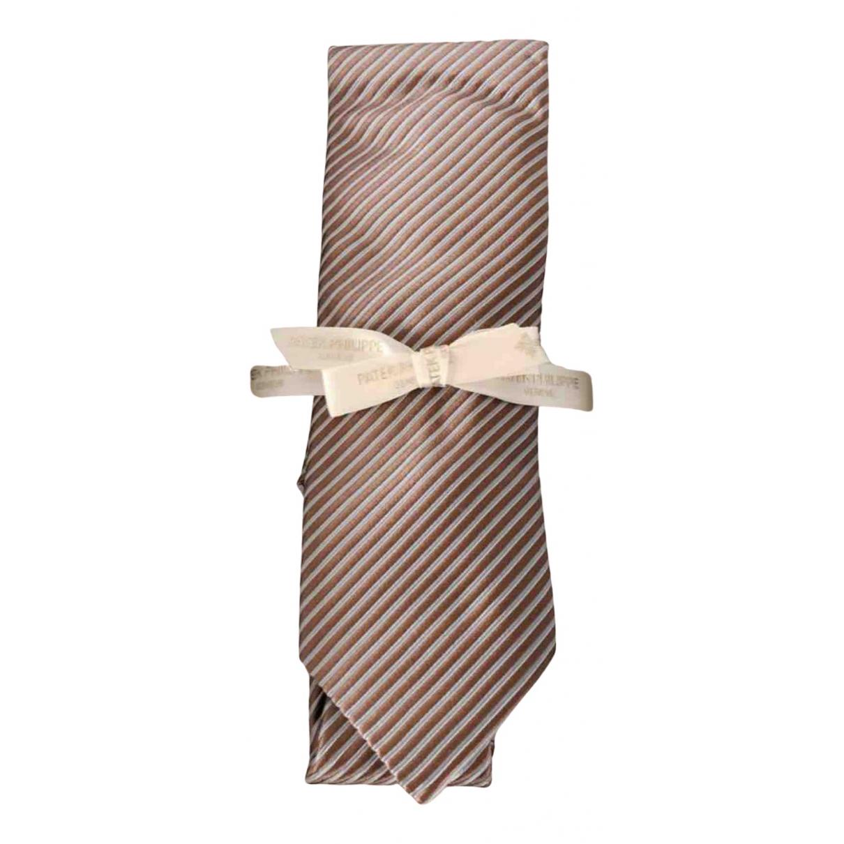 Patek Philippe - Cravates   pour homme en soie - camel