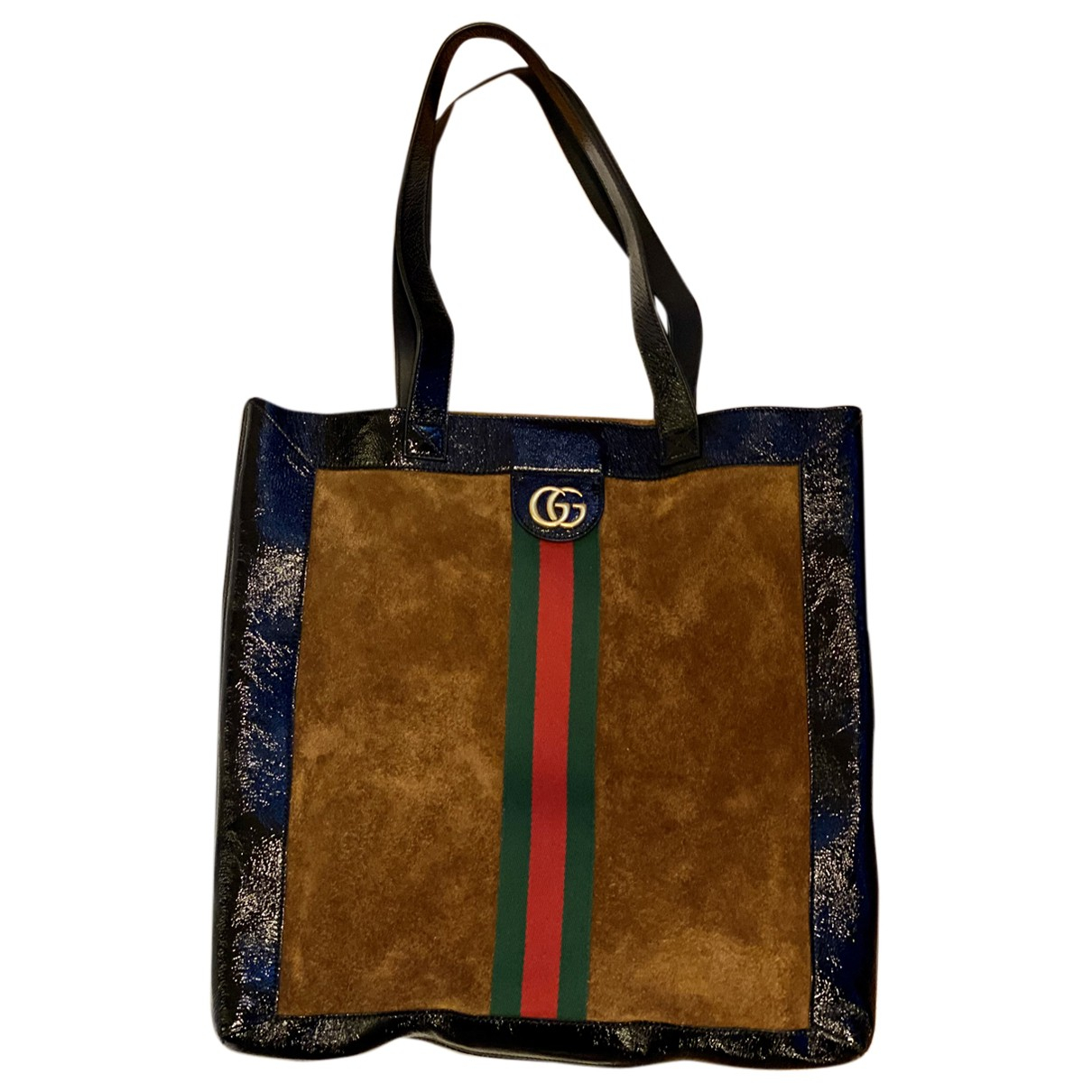 Gucci N Brown Suede handbag for Women N