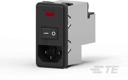 TE Connectivity , Corcom P 10A 115 V ac, 230 V ac 50/60Hz Power Line Filter (16)