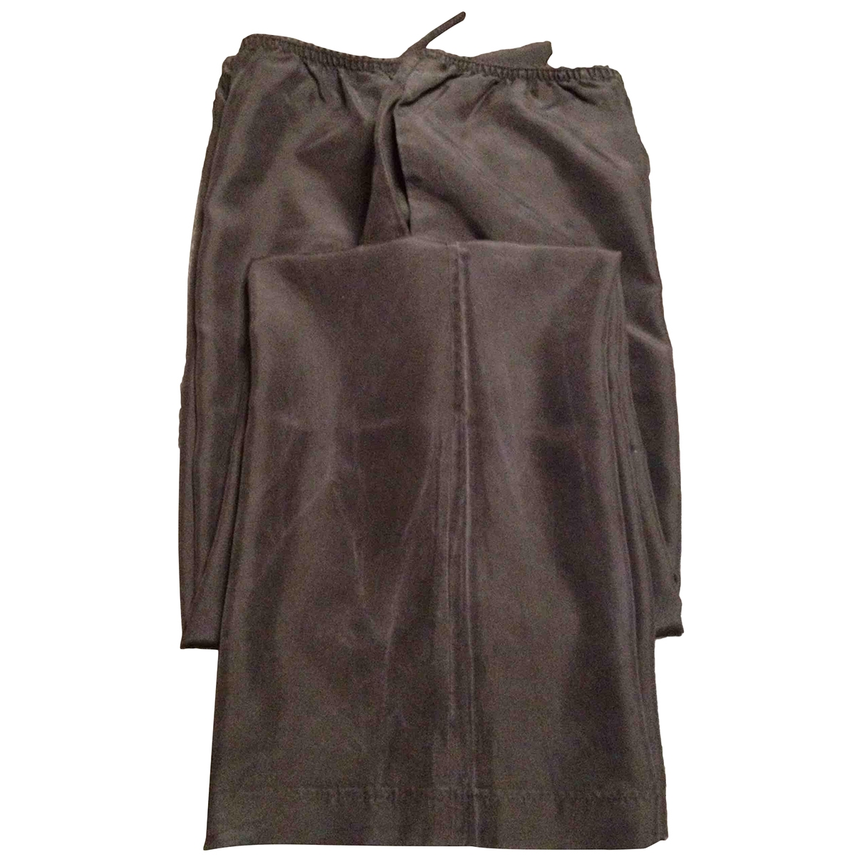 Gucci \N Black Silk Trousers for Women 40 IT