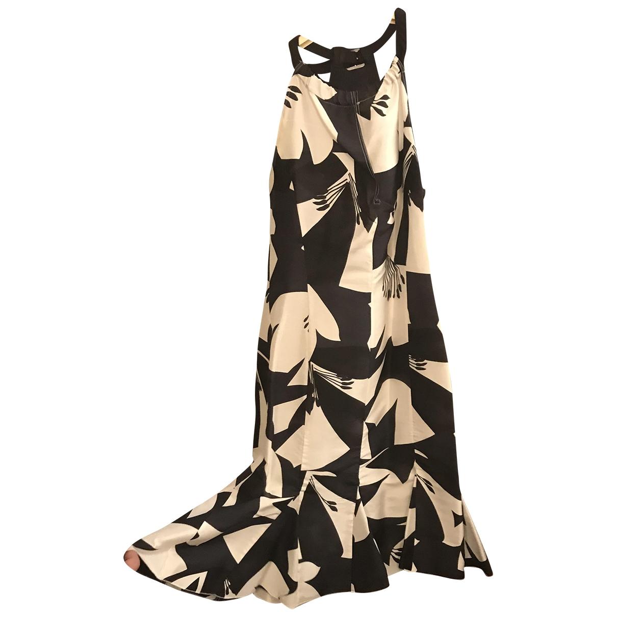 Marella \N Kleid in  Weiss Seide
