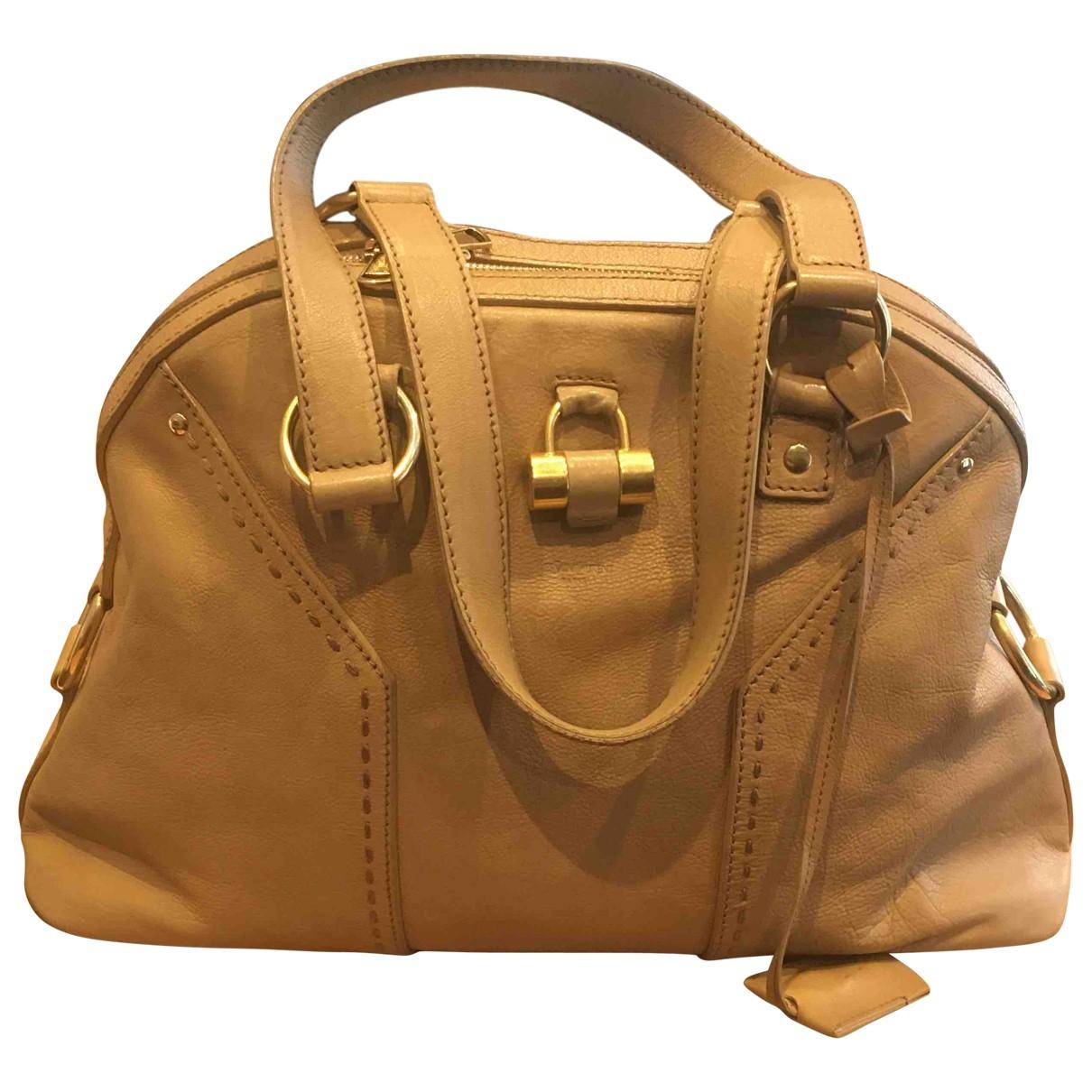Yves Saint Laurent Muse Beige Leather handbag for Women \N