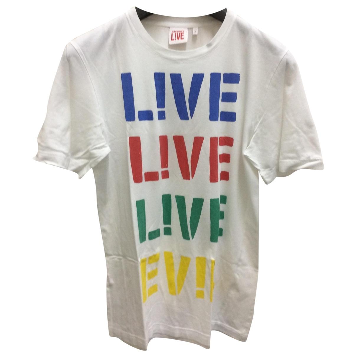 Lacoste Live - Tee shirts   pour homme en coton - blanc