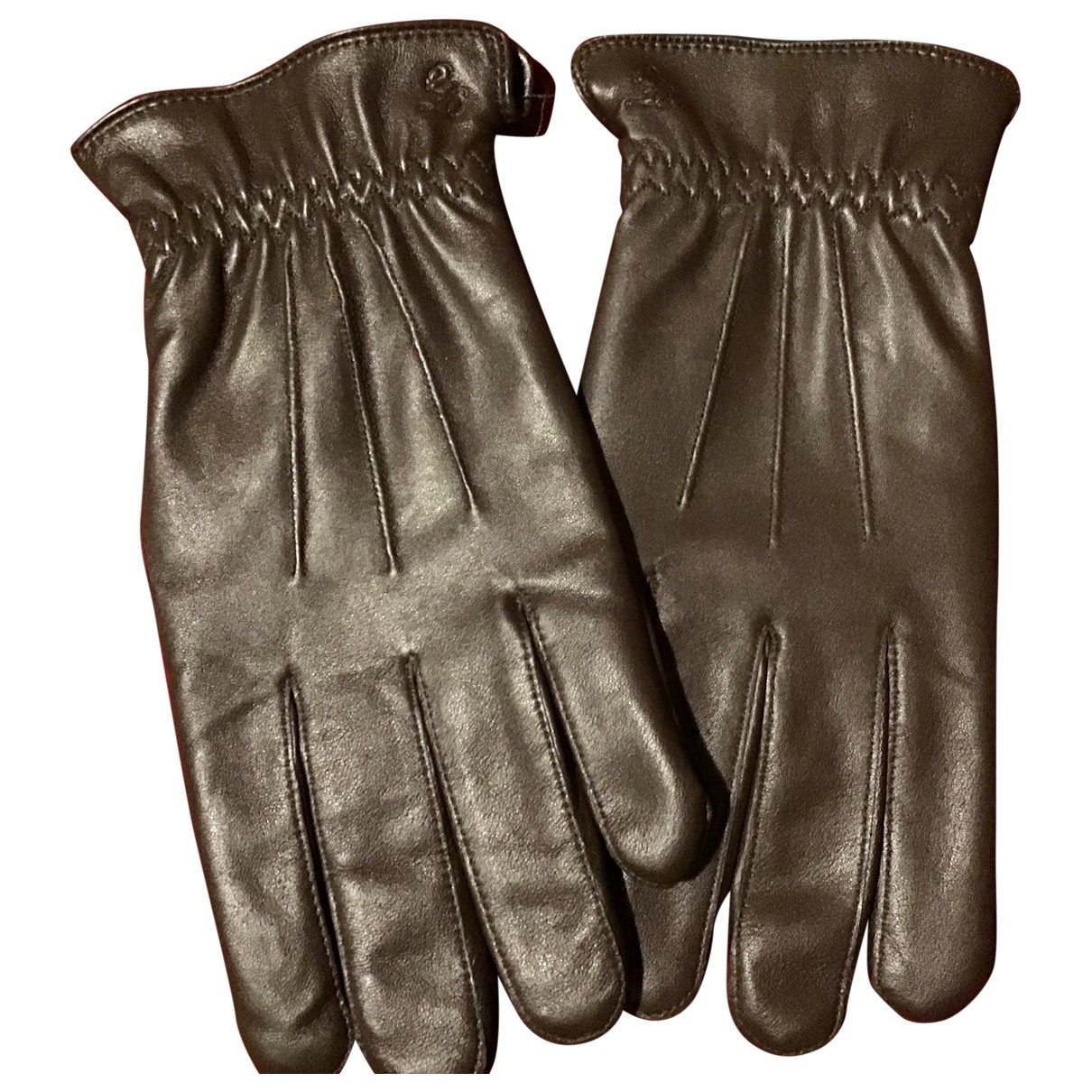 French Connection \N Brown Leather Gloves for Men S International