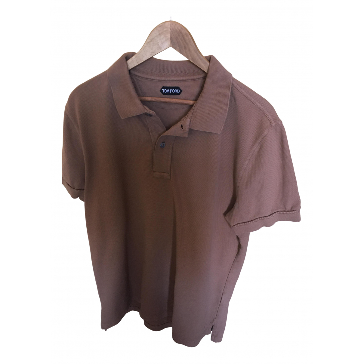 Tom Ford \N Brown Cotton Polo shirts for Men 52 IT