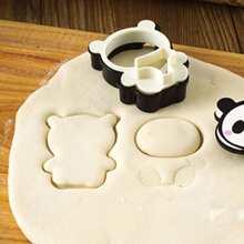 4 Stuecke Keksform in Pandaform