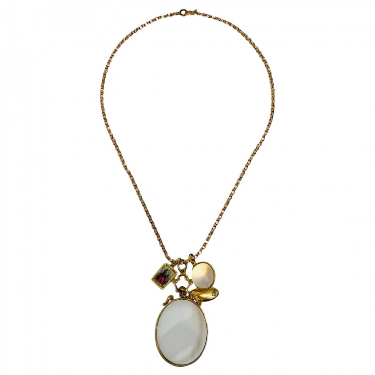 Non Signé / Unsigned \N Gold Pink gold necklace for Women \N