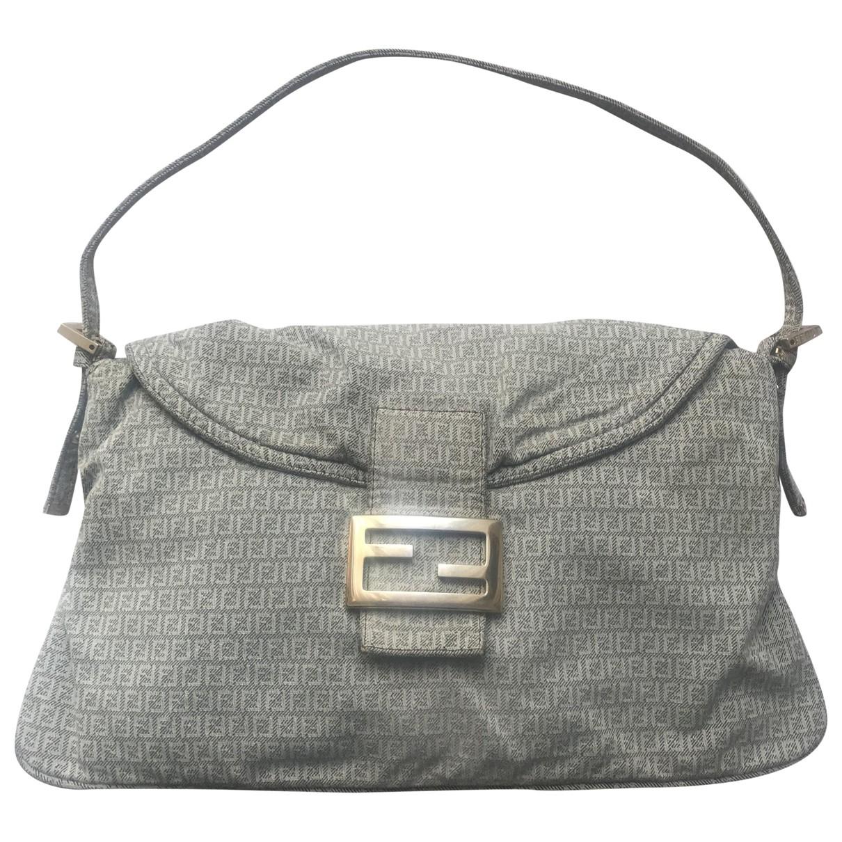 Fendi Baguette Grey Denim - Jeans handbag for Women \N