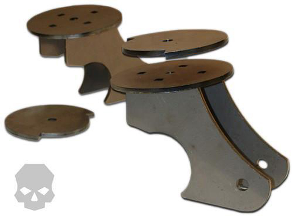 Axle Link / Coil Mount Brackets 3.25 Inch Tube Diameter Ballistic Fabrication BRK-1056-3