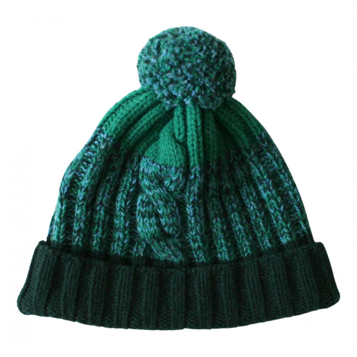 Paul Smith - Chapeau & Bonnets   pour homme en laine - vert
