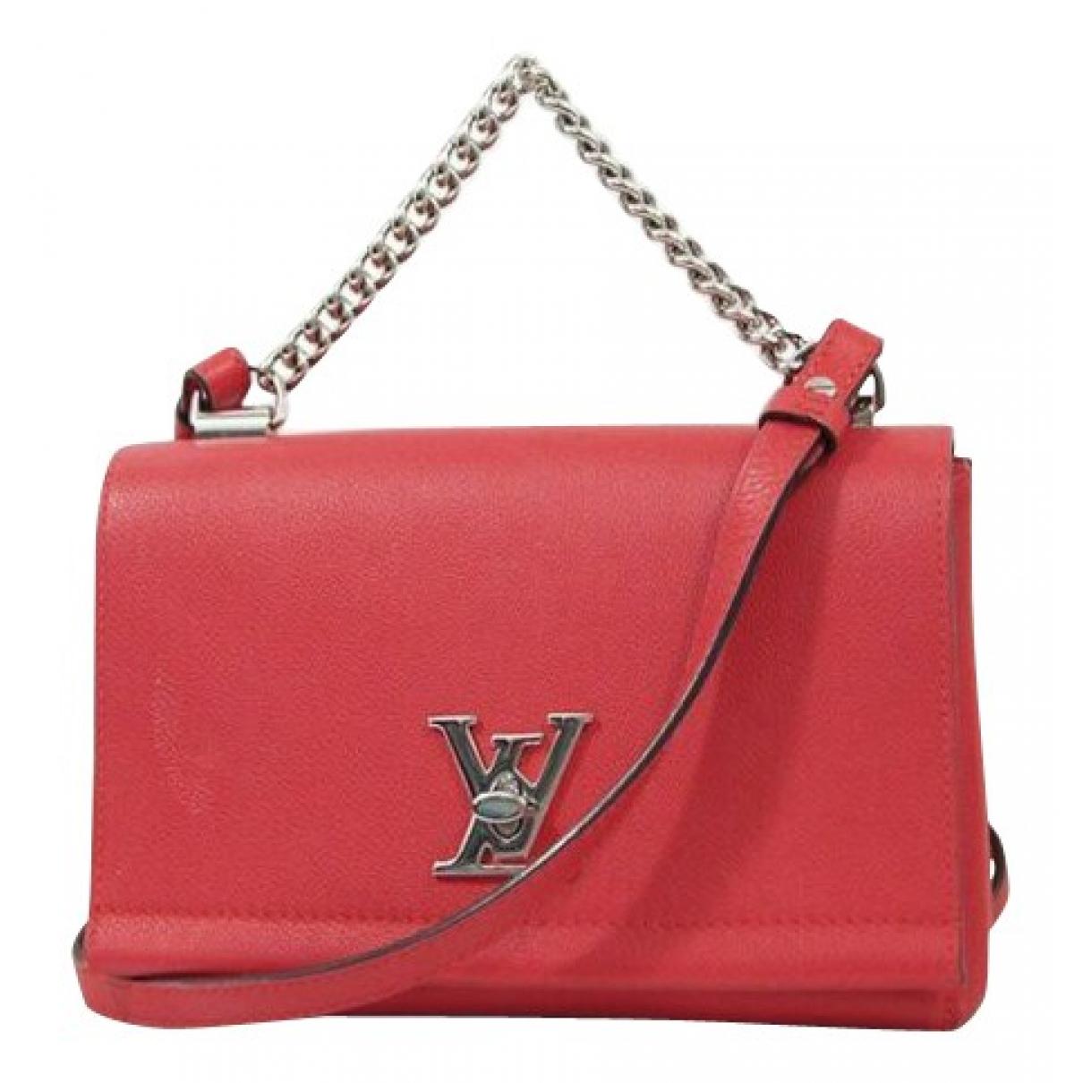 Louis Vuitton Lockme Red Leather handbag for Women \N