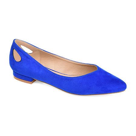 Journee Collection Womens Devon Round Toe Ballet Flats, 6 Medium, Blue