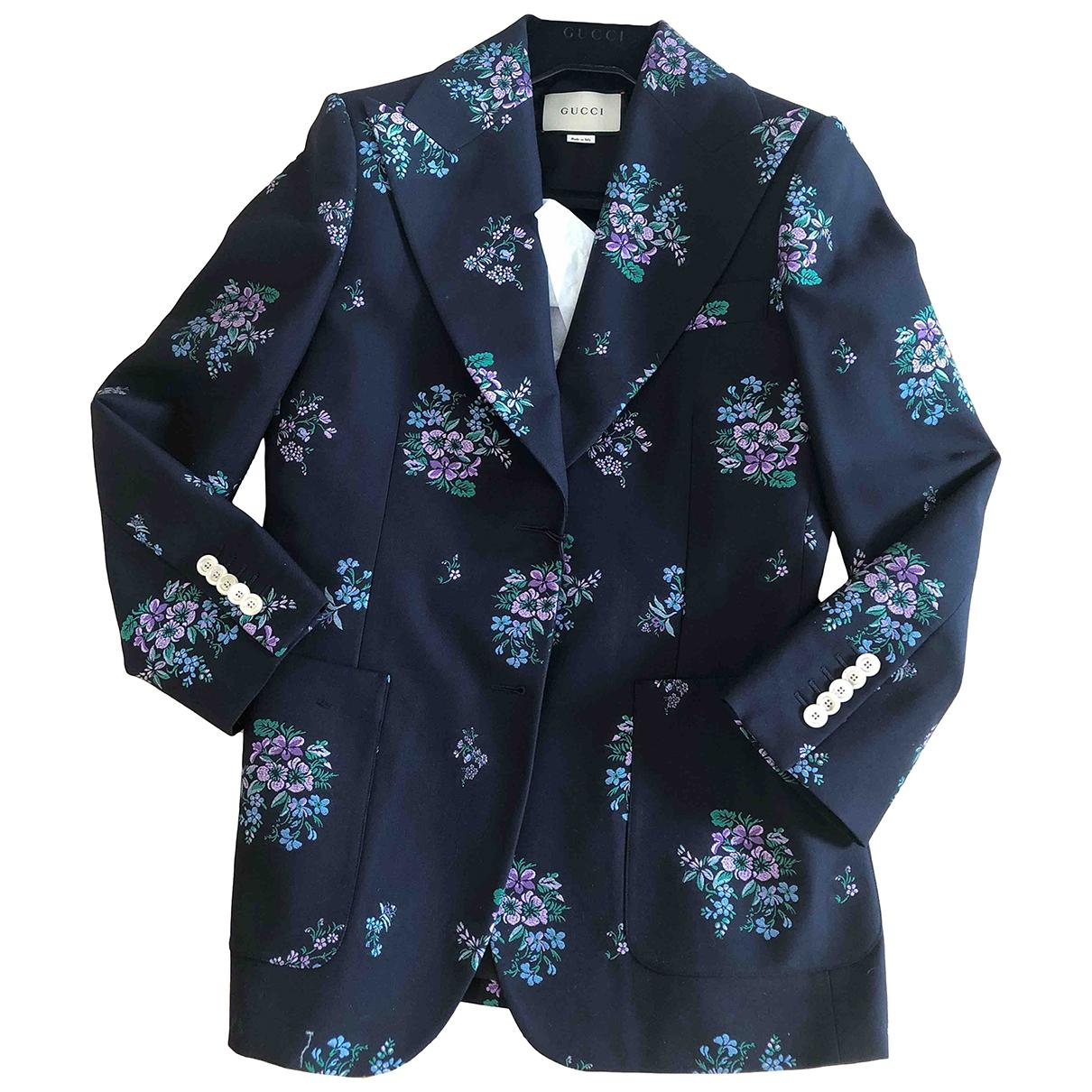 Gucci - Veste   pour femme en laine - bleu