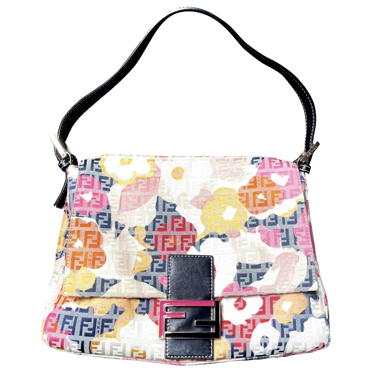 Fendi Baguette Multicolour Cloth handbag for Women \N