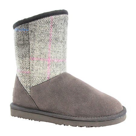 Lamo Womens Wembley Winter Boots Flat Heel, 9 Medium, Gray