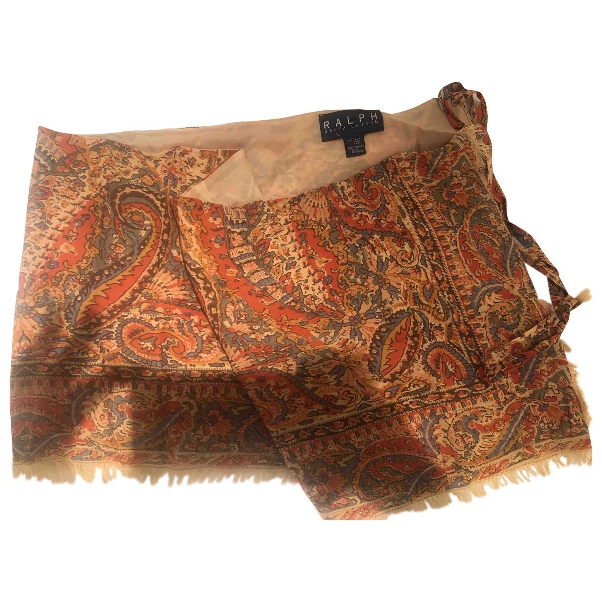 Lauren Ralph Lauren \N Orange Wool skirt for Women 40 IT