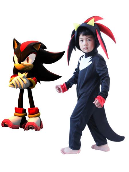 Milanoo Sonic The Hedgehog Shadow The Hedgehog Jumpsuit Cosplay Disfraz Halloween