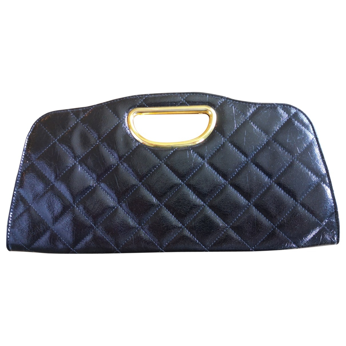 Non Signe / Unsigned \N Clutch in  Schwarz Lackleder