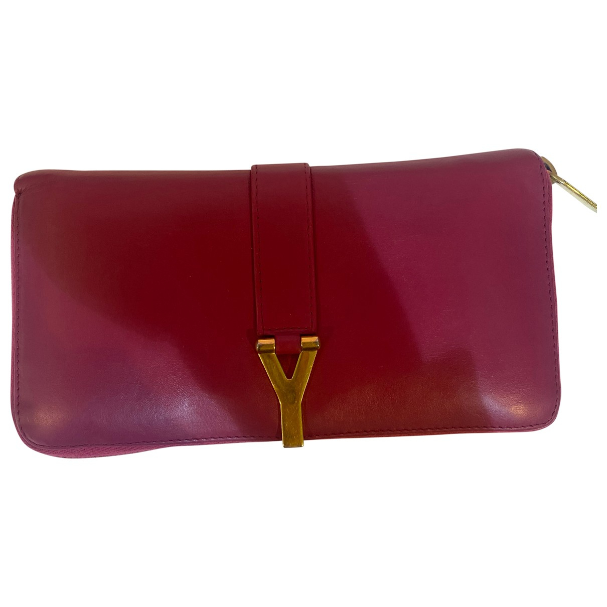 Saint Laurent Chyc Pink Leather wallet for Women \N