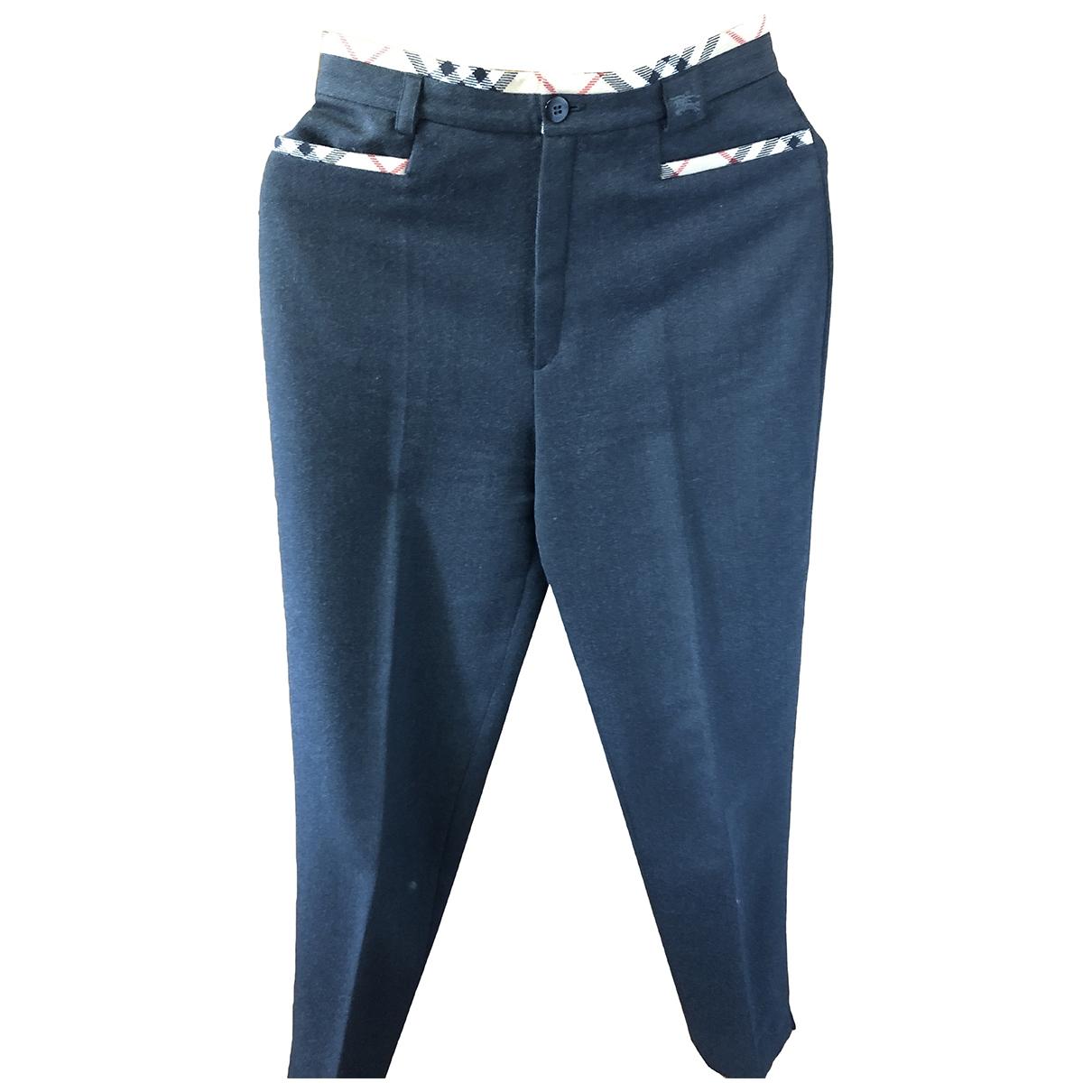 Burberry \N Grey Wool Trousers for Women 40 FR